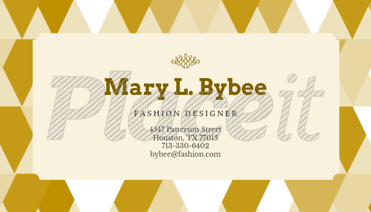 Modern Business Card Maker For Fashion Designers 138d Foreground Image