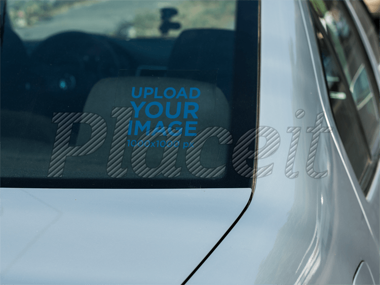 Placeit Mockup Of A Window Decal On The Back Left Door Of A - Car decal maker upload picture