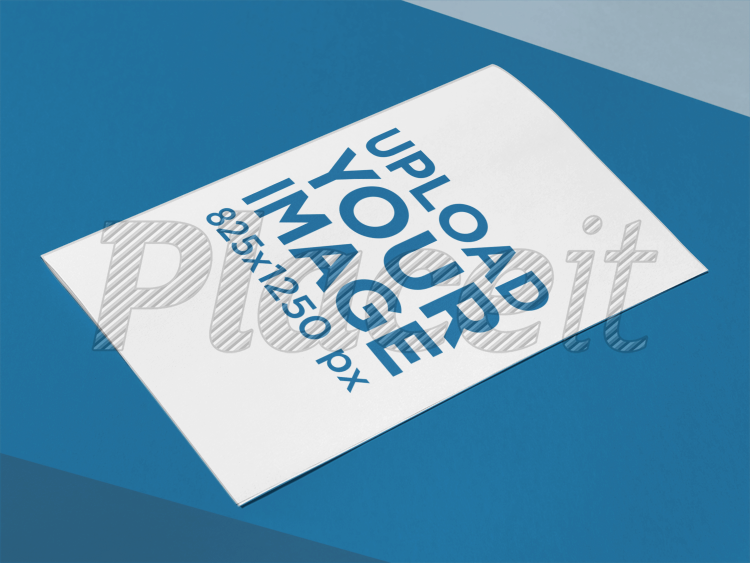 Placeit Bifold Brochure Template Lying On A Tricolor Surface