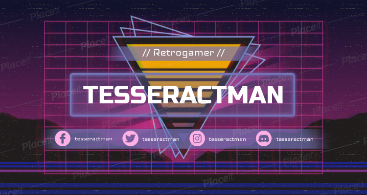 Twitch Banner Template with a Retrowave-Inspired Triangle 1502o