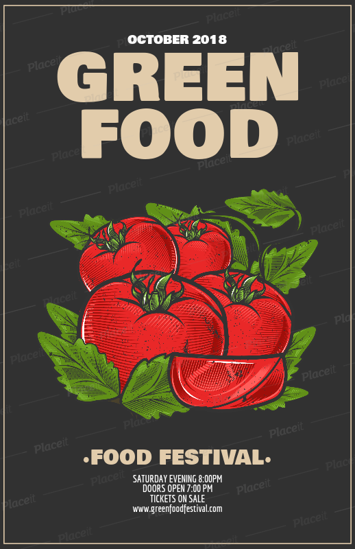 Placeit Food Festival Flyer Template