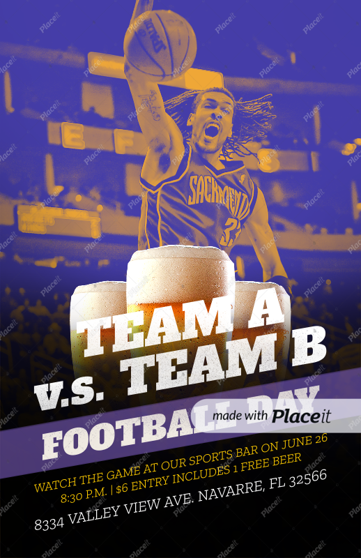 Placeit Flyer Template To Design A Sports Bar Flyer